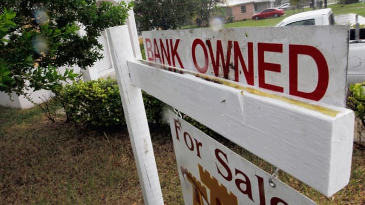 Reusable: Bank owned real estate sign foreclosure