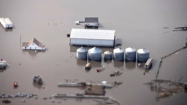 AP: Iowa Farm - Spring Floods 2019