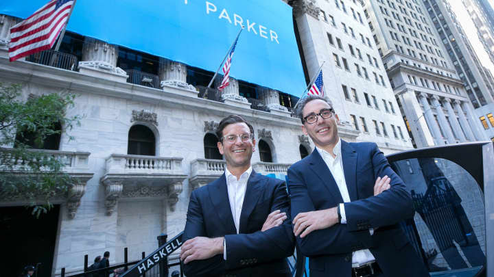 H/O: Co-CEOs, Neil Blumenthal & Dave Gilboa of Warby Parker at the NYSE 210929